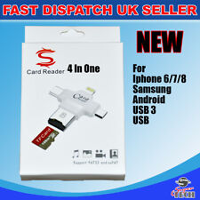 4 in1 Micro USB Tipo C OTG Micro SD TF Lector de Tarjetas para iPhone 7 6 Android PC Nuevo