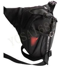 Black Drop Leg Motorcycle racing Cycling Fanny Pack Waist Belt Bag