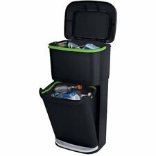 Rubbermaid Double Decker 2-in-1 Recycling Modular Bin wit W