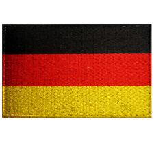 VEGASBEE® GERMANY FLAG EMBROIDERED PATCH DEUTSCHELAND BUNDESFLAGGE 8x5CM VELCRO®