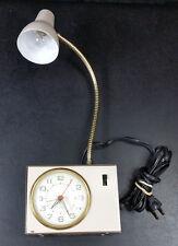 Tensor Alarm Clock Gooseneck Lamp 4300 Vintage Mid Century Modern MCM