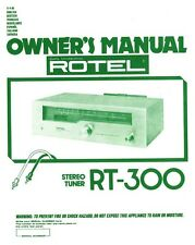 Rotel TR-300 Tuner Owners Manual