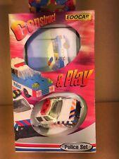 EDOCAR  Consstruct & Play 3inch Set Policewagen en bouwpakket van  PoliceWagen