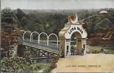 Luna Park Entrance Scranton PA handsome vintage postcard postally used in 1909