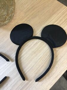 5x  Childrens Childs Kids Black Mouse Ears Fancy Dress Up Costume