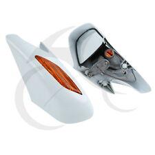 White Pair Rear View Mirrors Orange Turn Signals Lens For Honda ST1300 2002-2011