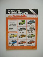 REVUE TECHNIQUE RTA n°460 VW GOLF GTi-305 GT & GTX-BX 14-ASCONA C-TALBOT SAMBA