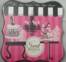 Wood Wall Art Picture Plaque Sign Chandelier Cake Cupcake Sweet Shopping #222