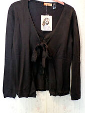 Hope by Kristian Alfonso Tie Front Sweater Medium Black NWT