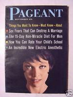 PAGEANT September 1961 INGRID THULIN JERRY SHANE BORSCHT CIRCUIT +++