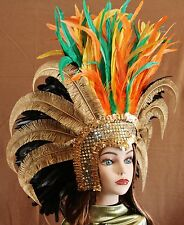 Hand Crafted Feather Mask (MH115)