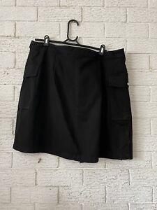 City Chic Womens Ladies Wrap Skirt L Black