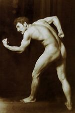 VINTAGE BODY BUILDER MALE NUDE ANTIQUE MUSCLE MAN VON GLOEDEN ART PHOTO