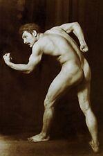 VINTAGE BODY BUILDER MALE NUDE ANTIQUE MUSCLE MAN VON GLOEDEN ART PHOTO