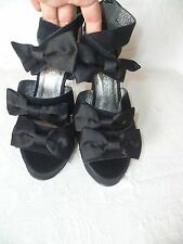 ISABELLA COLE BLACK LEATHER/SUEDE HIGH HEEL SANDALS/SHOES,UK 4/ EU 37,BRAND NEW