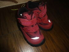 NEW NWOT ECCO 24 RED WINTER  GORE TEX BOOTS TODDLER GIRLS US 8