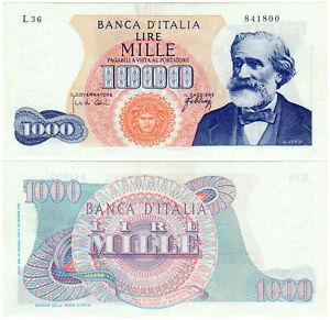Italy 1000 Lire P#96d (1966) Banca d'Italia VF+