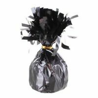 6 X UNIQUE BLACK FOIL BALLOON WEIGHTS 175g FOIL HELIUM BIRTHDAY PARTY