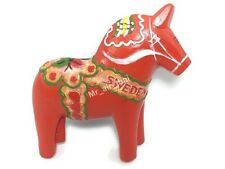 Dala Horse, SWEDEN SOUVENIR RESIN 3D FRIDGE MAGNET SOUVENIR TOURIST GIFT