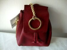 ~*NWT BARNEYS NEW YORK Backpack Coin Purse / Key Chain in Red Maroon