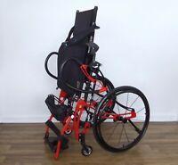 LifeStand LSA Helium standing wheelchair, titanium spinergy permobil-levo-tilite