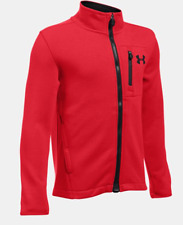 NWT Under Armour Boys UA Granite Jacket Red Black YMD 1280617-600 Zip Up Storm 1