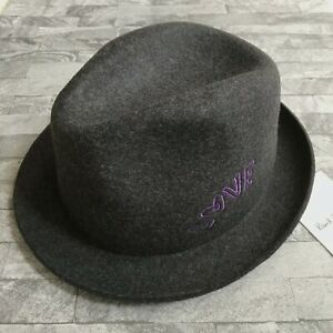 PAUL SMITH TRILBY HAT HAND MADE IN ENGLAND GREY WOOL FELT SIZE 58cm RETAIL €195