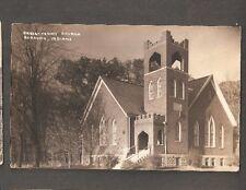 Vtg Postcard Presbyterian Church Burrows Indiana IN RPPC