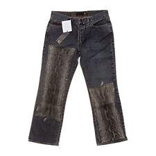 Hosengröße W28 Damen-Jeans mit geradem Bein aus Denim