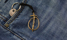 "Bronze keychain ""Iceax and rope"""
