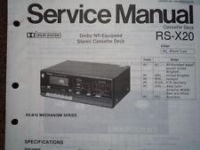 TECHNICS RS-X20 Cassette tape Deck Service manual wiring parts diagram RS-B10