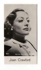 Joan Crawford 1940 Bridgewater Cookies 8th Series Film Star Card #43