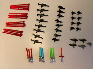 LEGO Star Wars Lot Weapons, Blasters & Long Rifles Gun Weapons Accessories Light