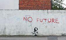 Banksy - No Future. Ed. 300 uds Firma impresa. Num. a lapiz. Certif. Edicion