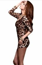 Unbranded Cotton Party Animal Print Dresses for Women