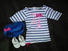 """French dress hat & SHOES American Girl 18"""" FRANCE doll Grace Eiffel tower LEA"""