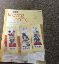 3 funky moving house, new home card patterns cross stitch chart only/ 232