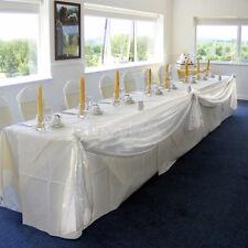 Table Swags Sheer Organza Fabric DIY Wedding Party Bow Decorations LA