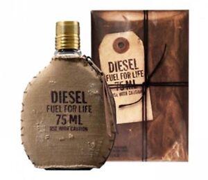 DIESEL FUEL FOR LIFE 75ml EDT Spray By Diesel Men's Perfume  ( 100 % Genuine )