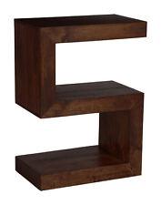 Manhattan Dark Solid Mango Furniture Side Table (h36d)