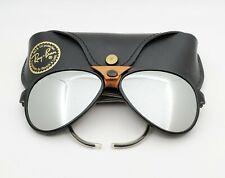 Vintage B&L Ray Ban Bausch & Lomb G31 Gray Mirror Black Glacier Cats 8000 w/Case