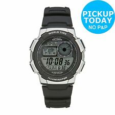 Casio Men's LCD World Time Strap Watch. From the Official Argos Shop on ebay