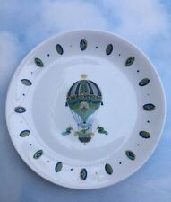 New listing Mcm 1950's Georges Briard Hot Air Balloon Large Dinner Serving Plate Retro