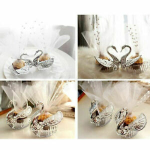 European Romantic Swan Wedding Favor Gift Box Candy Boxes Favors Celebration