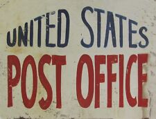 "TIN SIGN ""US Post Office"" Establisment Deco Garage Wall Decor"