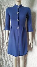 FTC 100% cashmere royal blue longline cardigan dress size S