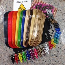 1 Complete Fingerboard 32mm-Pick Your Colors -Deck,Trucks,Bearing Wheels,2 Grip