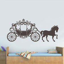 Wall Decal Vinyl Sticker Decor Art Nursery Kids Baby Horse Princess Coach Z3032