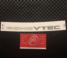 DC2 Acura Integra DOHC VTEC OEM Decal Rear Windshield Honda GSR 94-01 97 98 96