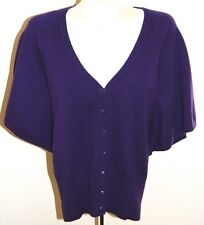 The Limited Sweater M Purple Cardigan Shrug NWT Short Sleeves